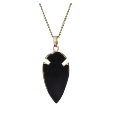 Decadorn Arrow Pendant - Onyx