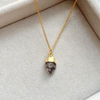 Decadorn Birthstone Pendant (Gold) - April Herkimer Diamond