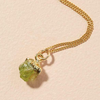Decadorn Birthstone Pendant (Gold) - August, Peridot
