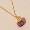 Decadorn Birthstone Pendant (Gold) - July Ruby