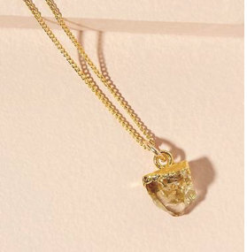 Decadorn Birthstone Pendant (Gold) - November Citrine