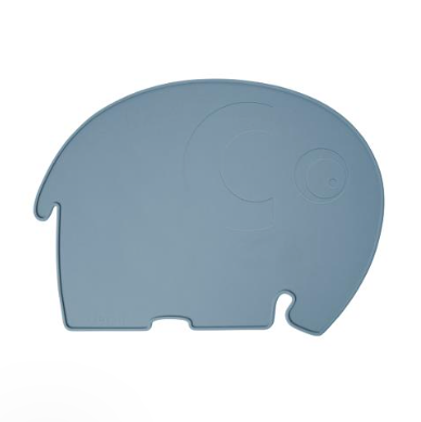 Sebra Silicone Placemat, Fanto the Elephant - Blue