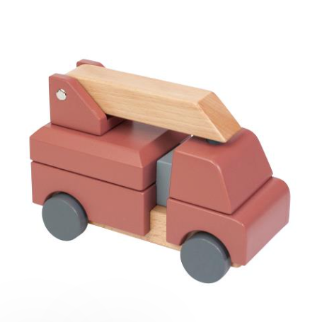 Sebra Wooden Fire Engine Stacking Toy