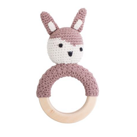 Sebra Crochet Siggy Rattle Ring - Midnight Plum