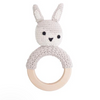 Sebra Crochet Siggy Rattle Ring - Feather Beige