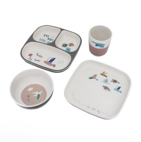 Sebra Kids Dinner Set - Birds