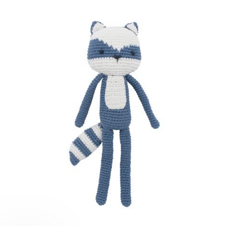 Sebra Crochet Toy - Rebel the Racoon