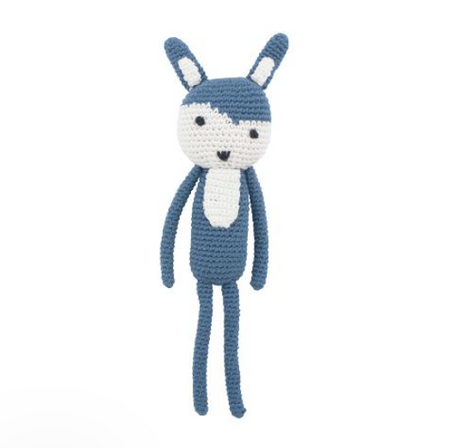 Sebra Crochet Toy - Siggy the Rabbit Royal Blue