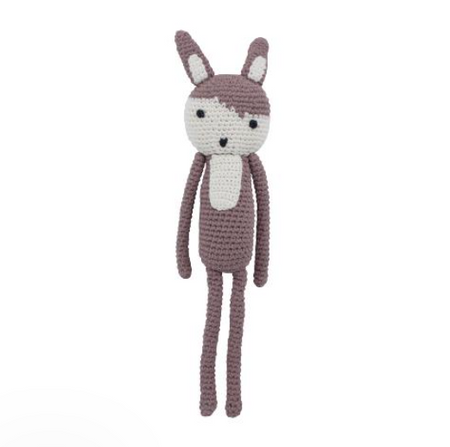 Sebra Crochet Toy - Siggy the Rabbit Midnight Plum