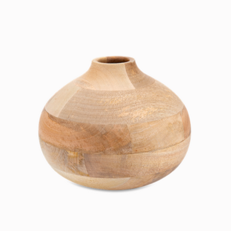 Decorative Batwa Vase - Mango Wood