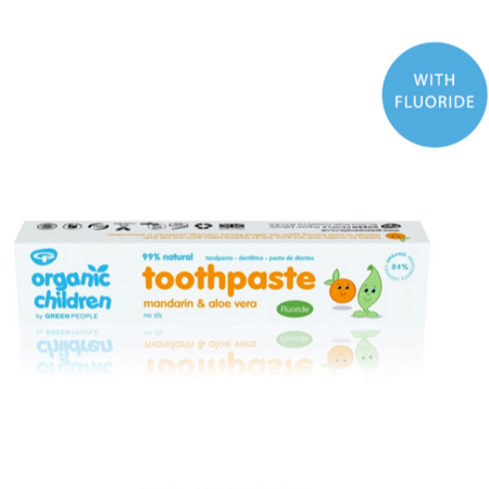 Green People Children's Mandarin & Aloe Vera Toothpaste 50ml (With Fluoride)
