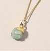 Decadorn Birthstone Pendant (Gold) - March Aquamarine