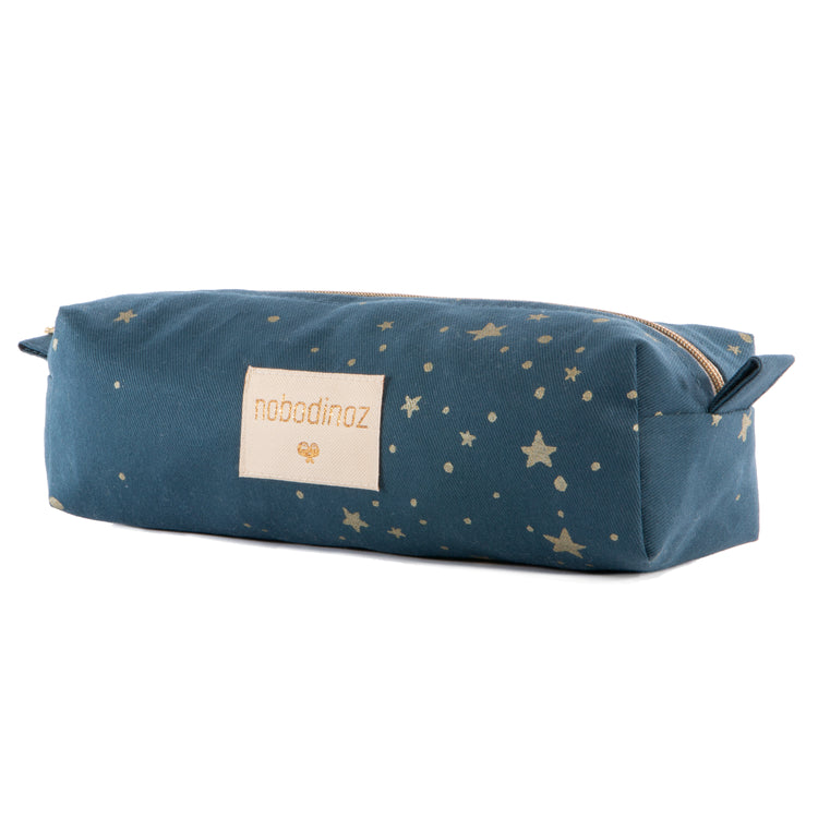 Nobodinoz Too Cool Pencil Case - Gold Stella/Night Blue