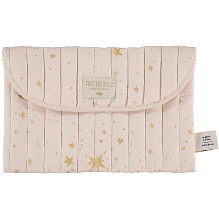 Nobodinoz Bagatelle Pouch - Gold Stella/Dream Pink