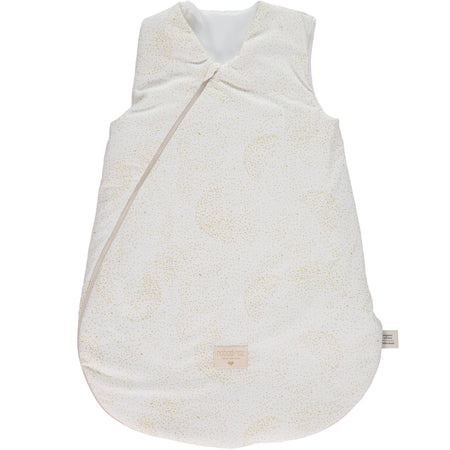 Nobodinoz Cocoon mid-season sleeping bag (0-6 Months) - Gold Bubble/White