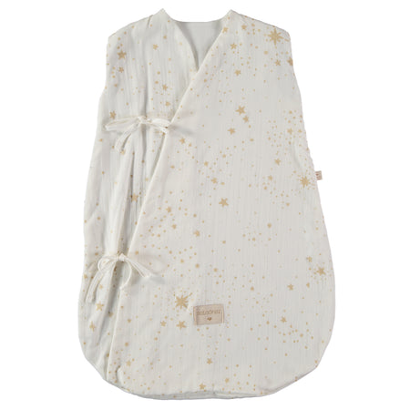 Nobodinoz Dreamy Summer Sleeping Bag (0-6 Months) - Gold Stella/White