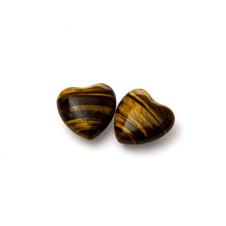 Soulstice Crystal Heart (Small) - Tigers Eye