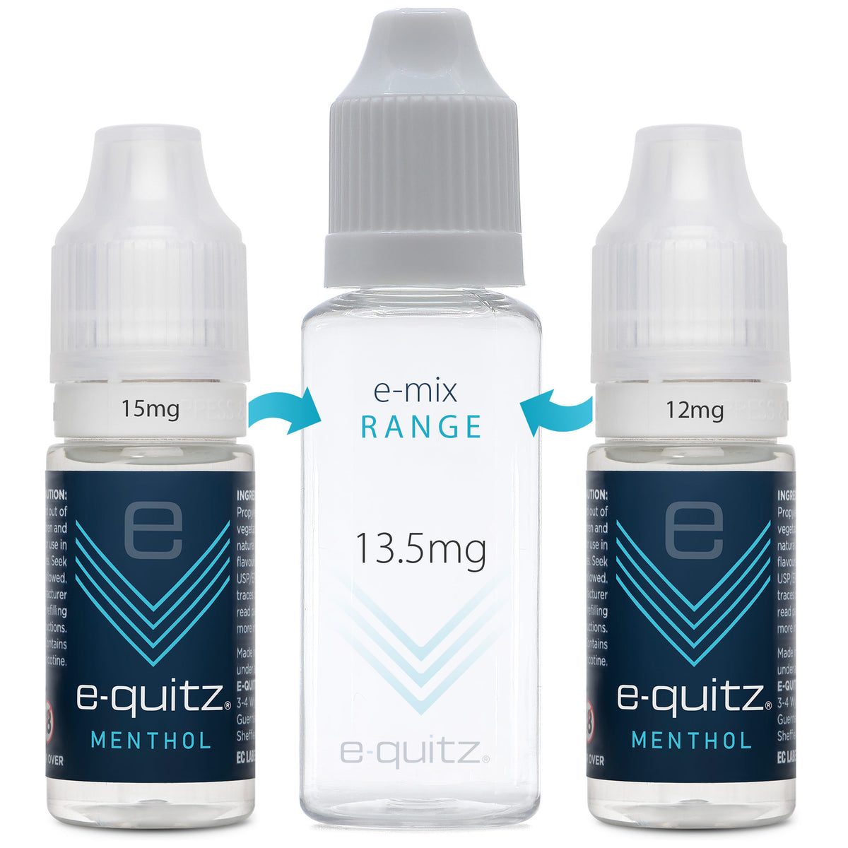 e-quitz 13.5mg menthol e-mix