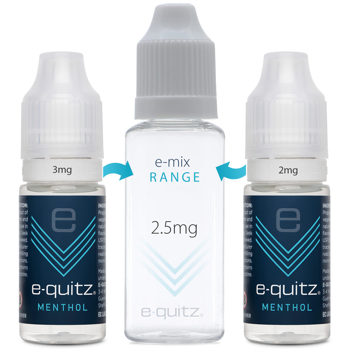 e-quitz 2.5mg menthol e-mix