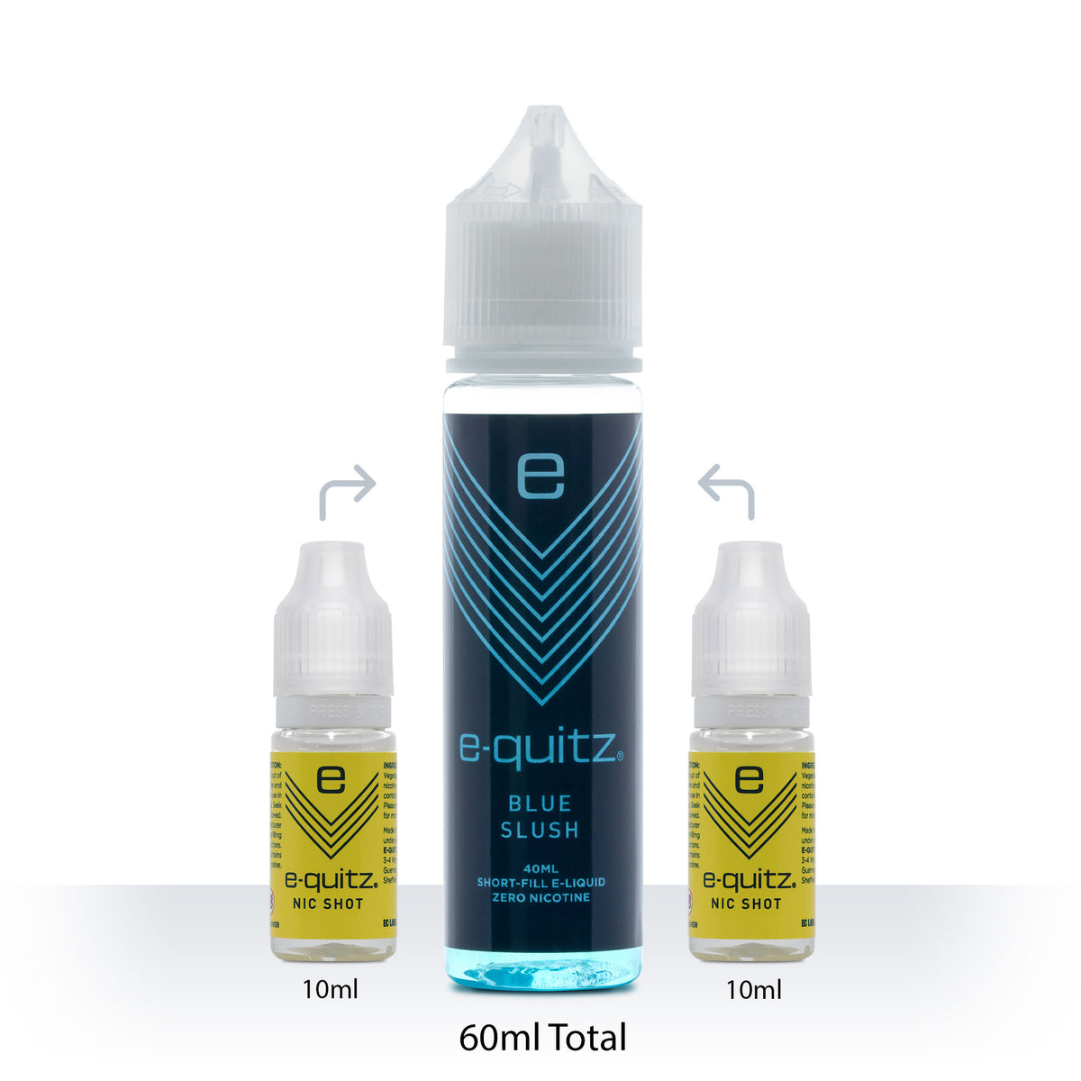 e-quitz blue slush short fill range