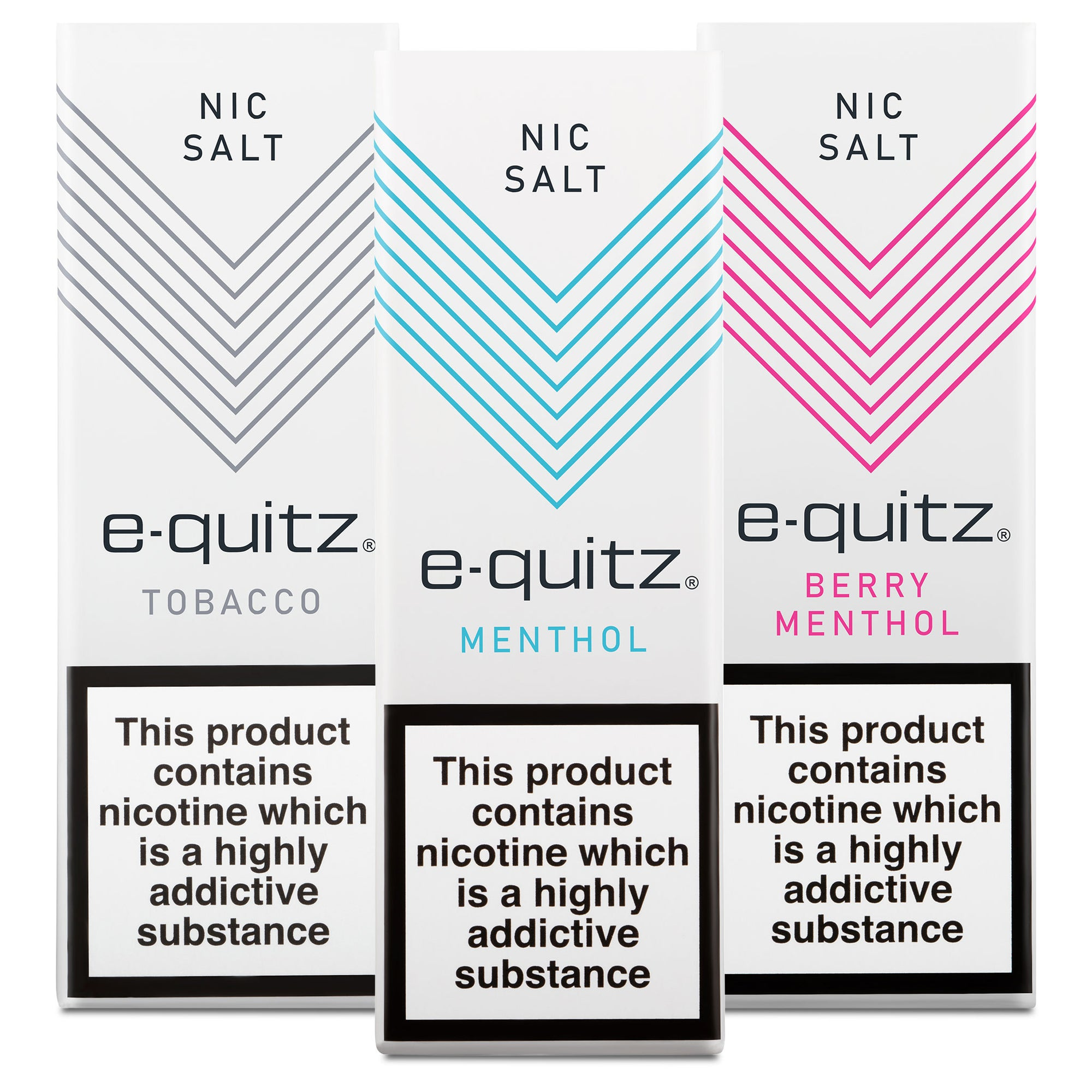 e-quitz Nic Salt e-liquid range