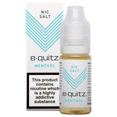e-quitz Nic Salt e-liquid 20mg menthol flavour