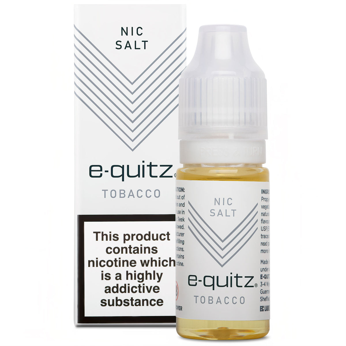 e-quitz Nic Salt e-liquid 20mg tobacco flavour