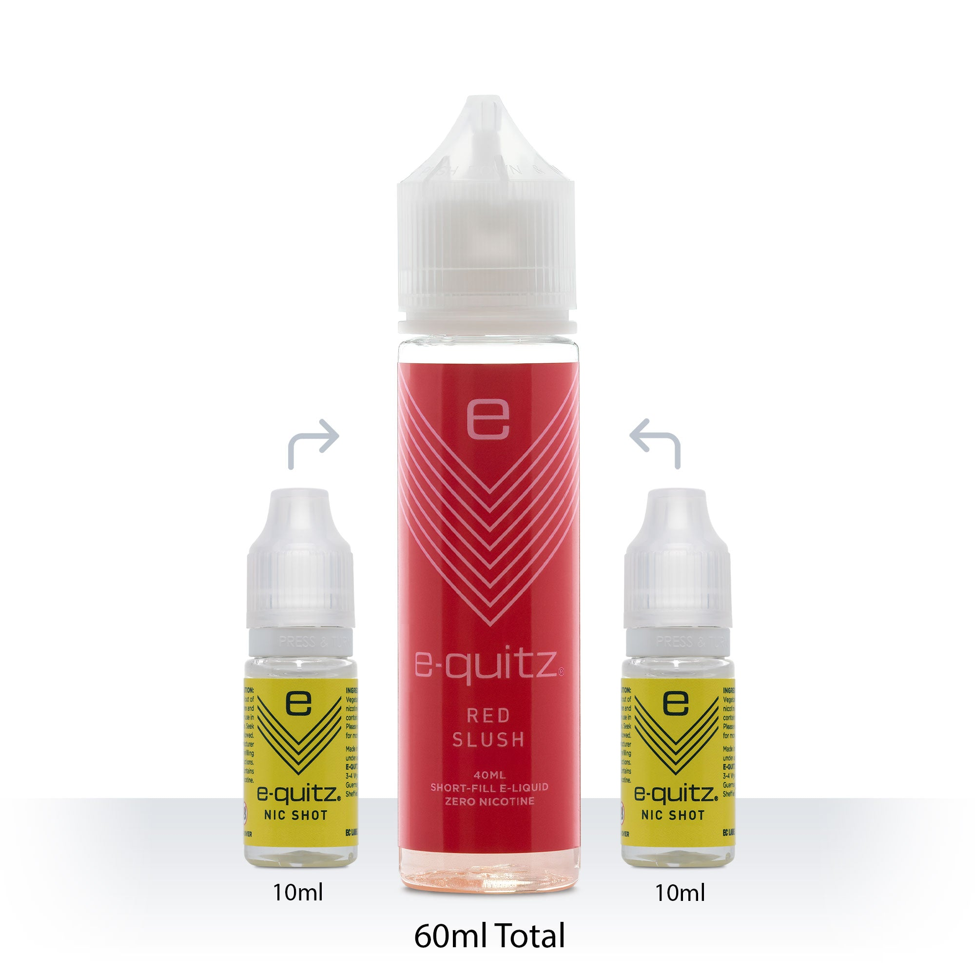 e-quitz red slush Short Fill e-liquid
