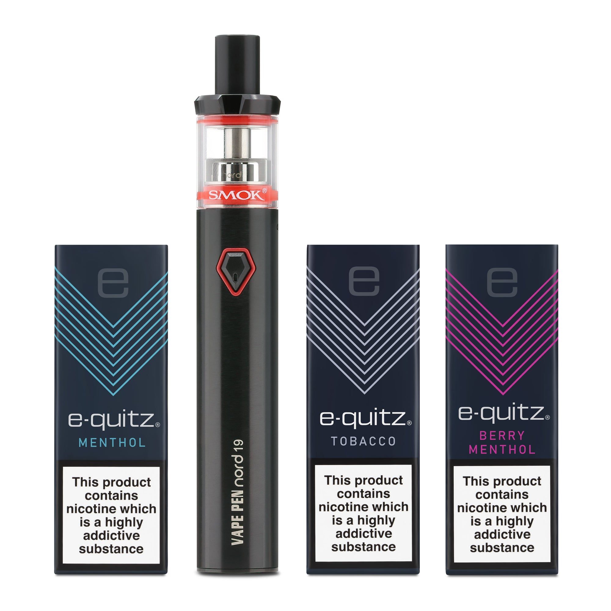 3 free e-liquid and smok vape pen in black