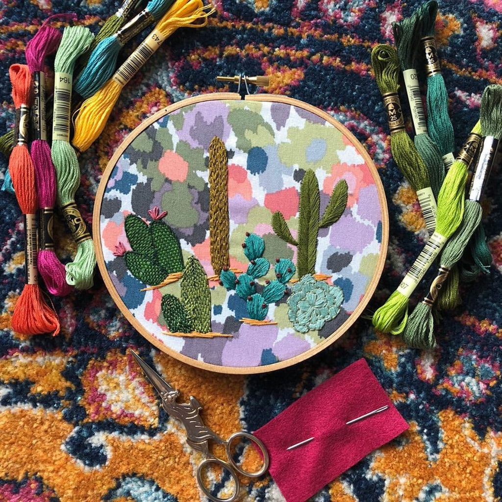 DECEMBER 19: Cactus Hoop Embroidery Class with Melissa of MCreativeJ