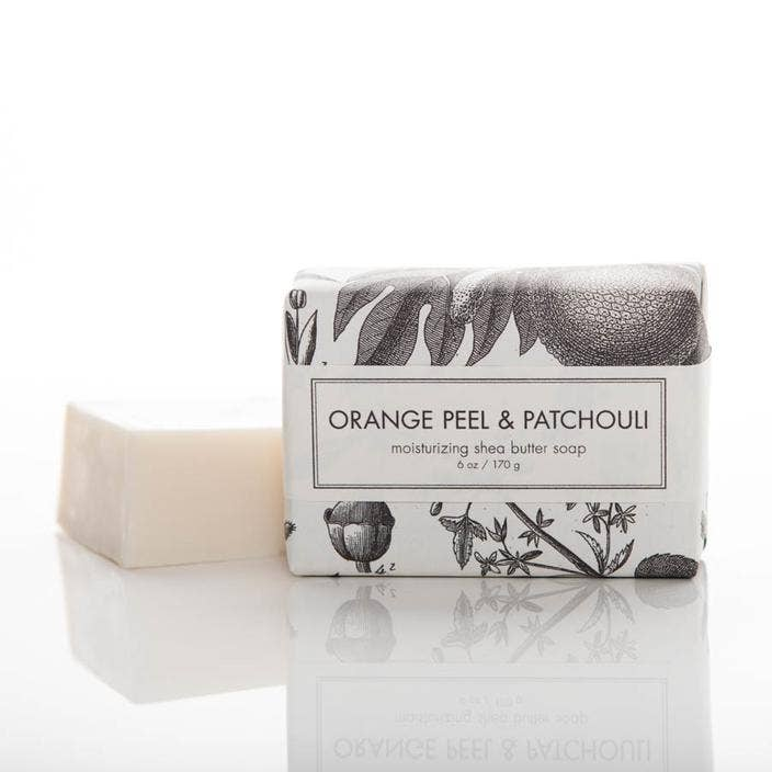 Orange Peel & Patchouli Shea Butter Soap