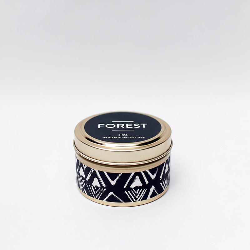 Forest Tin Candle