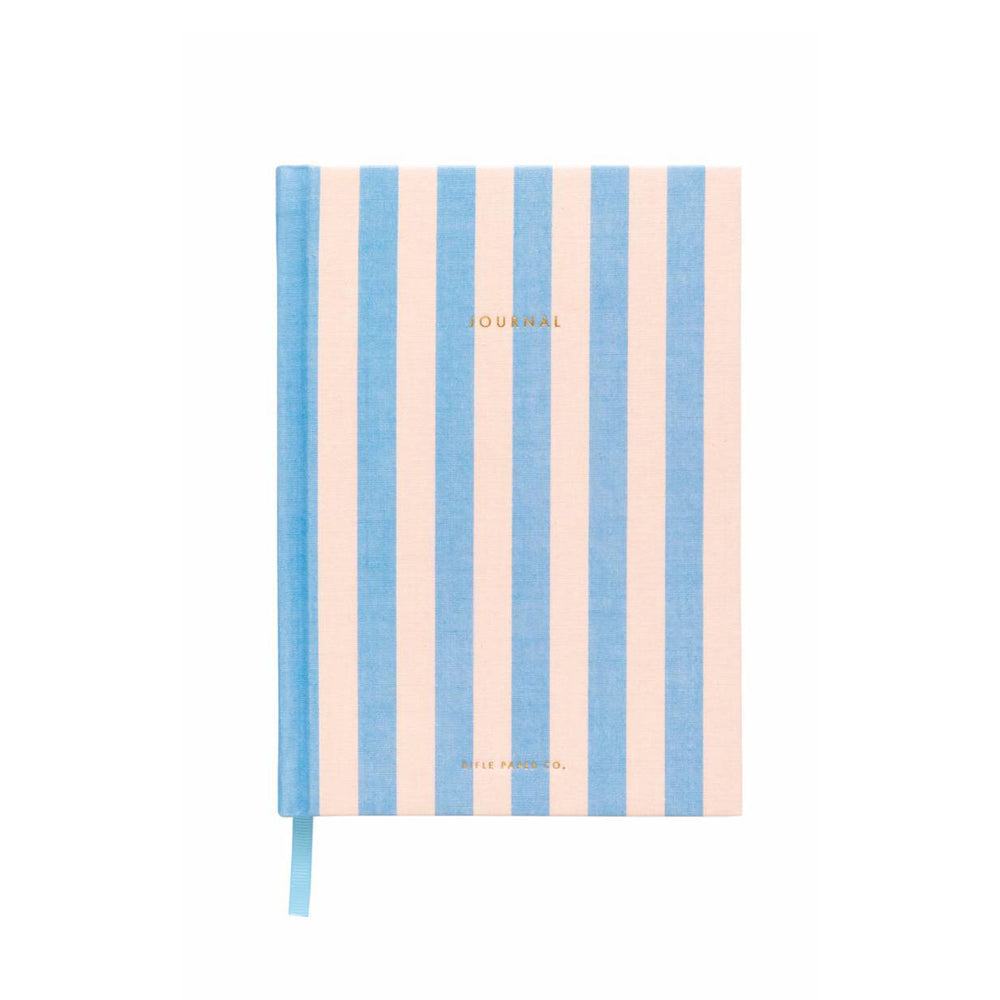 Pink & Blue Stripes Cabana Fabric Journal