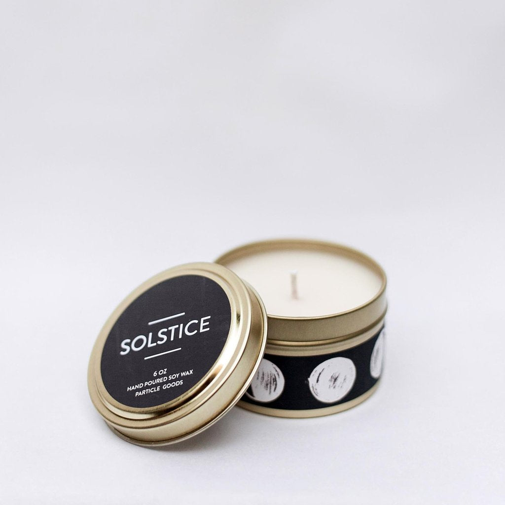 Solstice Tin Candle