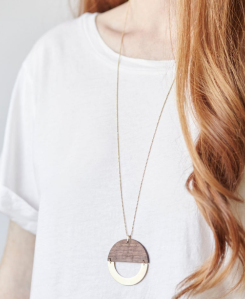 Noden Midcentury Moon Phase Necklace