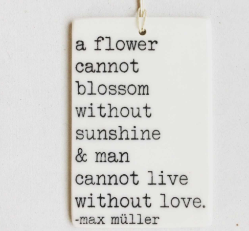 Flower Cannot Blossom Porcelain Wall Tag
