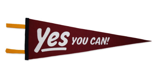 Yes You Can Pennant