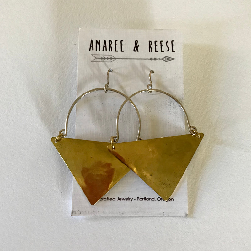 Triangle Shield Earrings