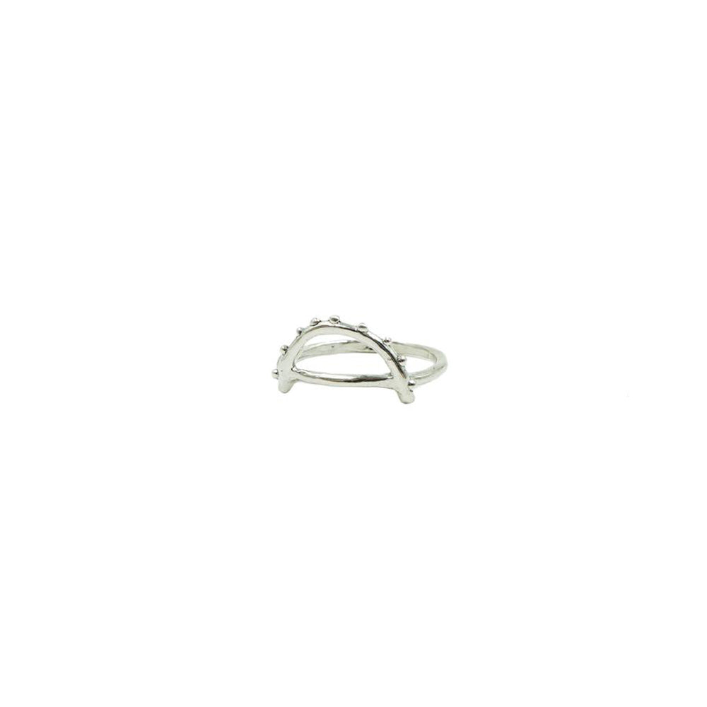 Arc Ring in Sterling Silver