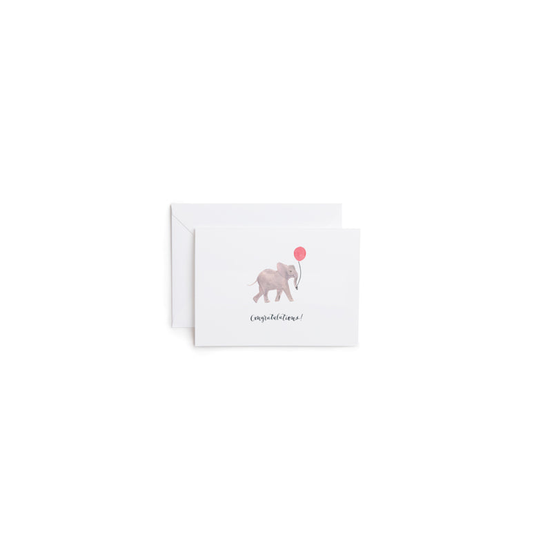 Congratulations Elephant Greeting Card