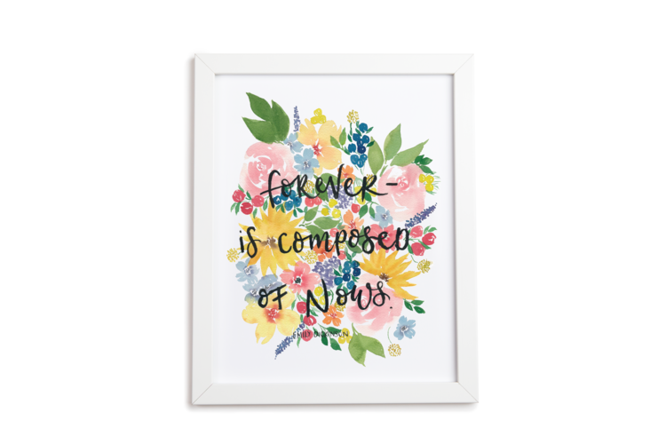 Forever Is Floral Art Print