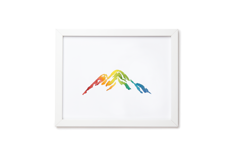 Mountain is Out Art Print