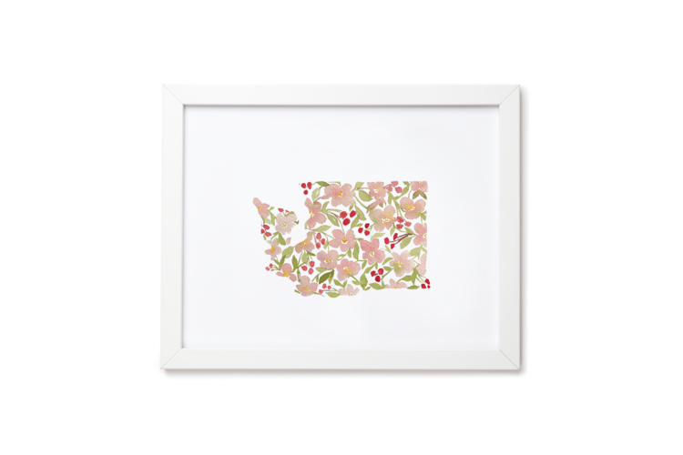 WA Apple Blossoms Art Print