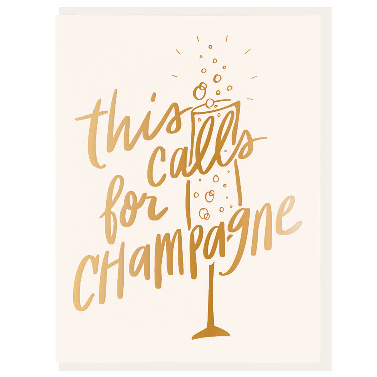 This Calls for Champagne Greeting Card