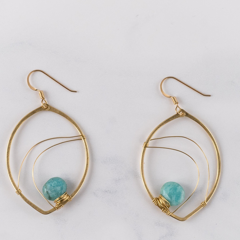 Amazonite Sterling Earrings