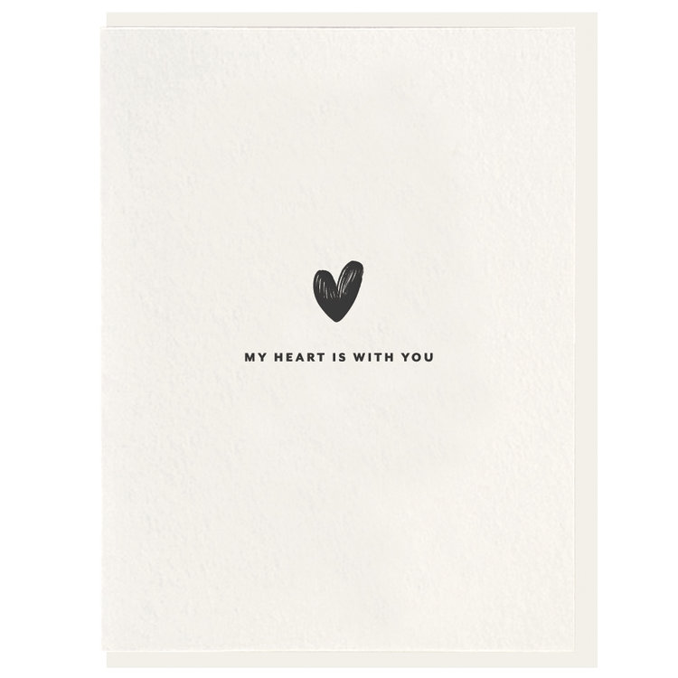 Heart With You Greeting Card