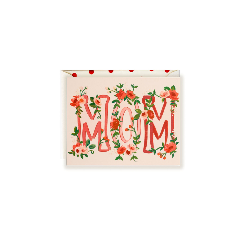 Mom Floral Greeting Card