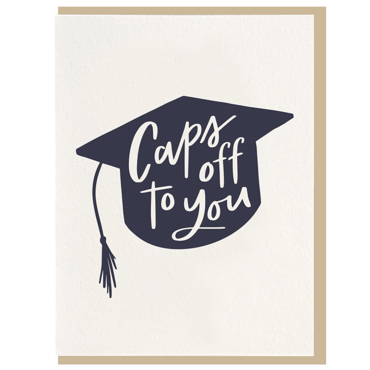 Caps Off Greeting Card