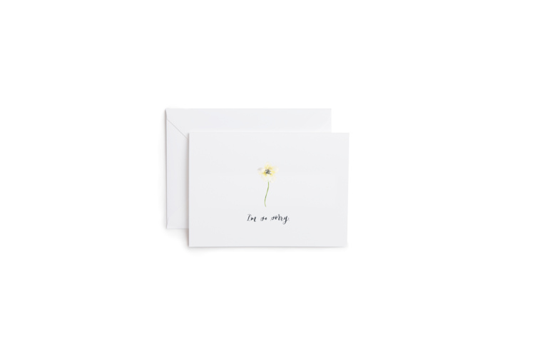 Sympathy Flower Greeting Card
