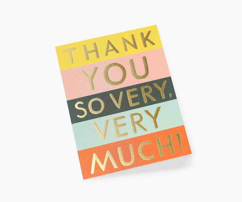 Color Block Thank You Greeting Card